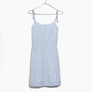 Madewell light blue gingham dress